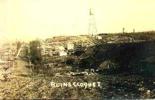 Cloquet Fire ruins