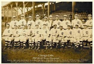 1908 World Series winning Cubs